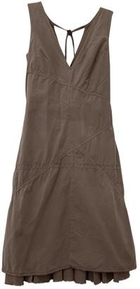 BOSS ORANGE Brown Cotton Dress for Women