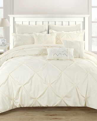 Chic Home Salvatore Pinch Pleated & Ruffled Comforter Set
