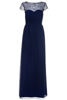 Quiz Navy Embroidered Cap Sleeve Maxi Dress