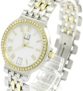 Dunhill Elite Diamond 18K Yellow Gold & Stainless Steel Quartz 32mm Womens Watch
