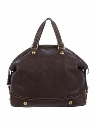 Dolce & Gabbana Pebble Leather Tote Brown