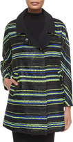 Milly Eldridge Couture Stripe Coat