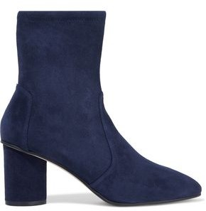 Stuart Weitzman Crinkled-leather Ankle Boots