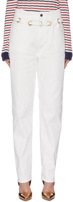 Philosophy di Lorenzo Serafini Belted cotton jeans
