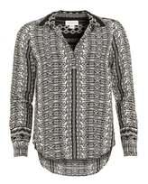 Velvet by Graham & Spencer Womens Leonie Challis Blouse, Black Diamond Print Shirt