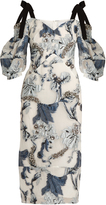 Erdem Bree floral fil coupé dress