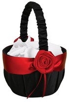 Hortense B. Hewitt Midnight Rose Wedding Collection Flower Girl Basket - Black