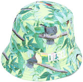 Diesel printed sun hat - kids - Cotton/Polyester - 46 cm