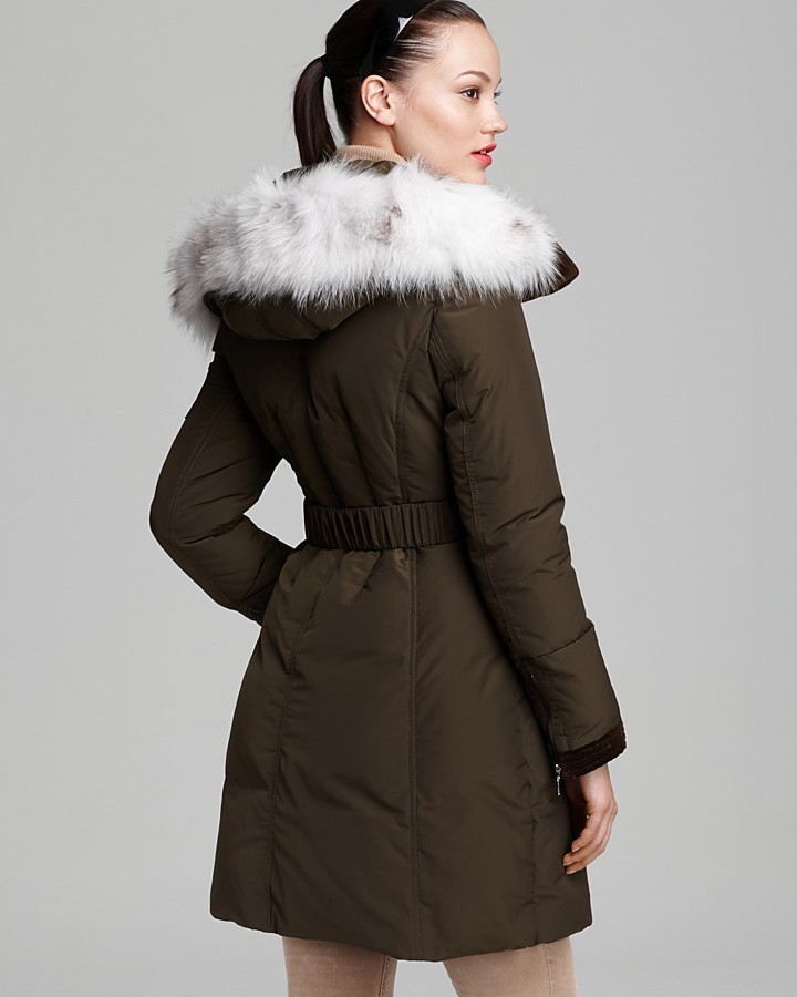 Dawn Levy Down Coat - Andy Belted Fur Collar