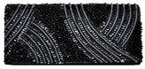 La Regale Beaded Magnetic Flap Clutch