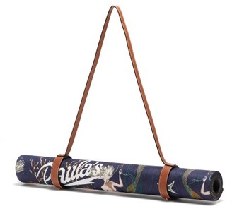 Loewe Paula's Ibiza - Mermaid-print Leather-strap Yoga Mat - Purple