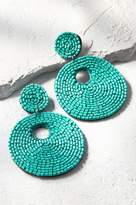 Seed Bead Circled Earrings