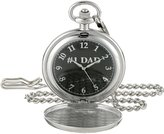 EWatchFactory Men's 'EW DAD Pkt' Quartz Metal Pocket Watch, Color:Black (Model: PW00067)