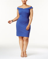 Love Squared Trendy Plus Size Off-The-Shoulder Sheath Dress