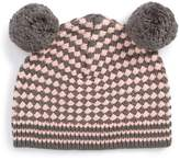 Tucker + Tate Toddler Girl's Leah Double Pompom Knit Hat - Pink