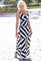 O'Neill Black/White Stripe Maxi Dress
