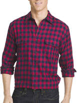 Izod Long-Sleeve Flannel Button-Front Sport Shirt