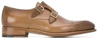 Santoni double-buckled monk shoes