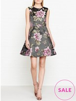 Ted Baker Kinella Floral Jacquard Fit And Flare Dress