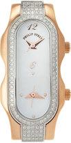 Philip Stein Teslar Signature Double-Dial Diamond Timepiece, Size 4