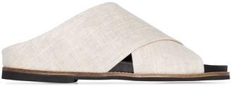 Ganni Flat Crossover Sandals