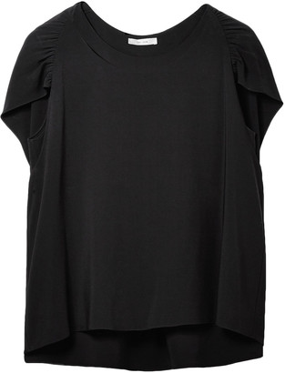 The Row Ada Cape-effect Stretch-crepe Top