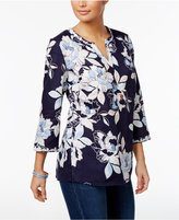 Charter Club Floral-Print Tunic, Only at Macy's