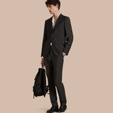 Burberry Slim Fit Wool Mohair Part-canvas Suit