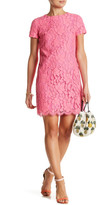 CeCe Kayte Palm Lace Shift Dress (Petite)