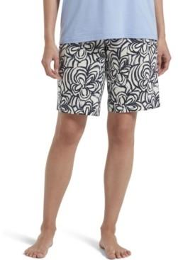 Hue Women's Blooms Bermuda Pajama Shorts