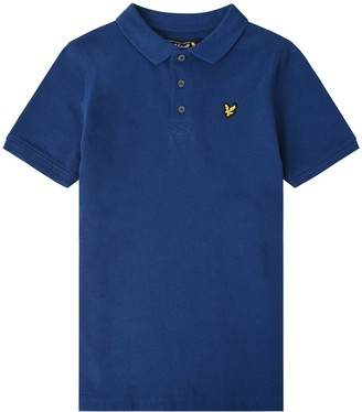 Lyle & Scott Boys Classic Short Sleeve Polo - Estate Blue