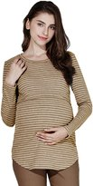 Sweet Mommy Maternity and Nursing Cotton Round Neck Nursing Top VINKHWHM