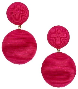 Rebecca De Ravenel Classic Woven Double Drop Earrings