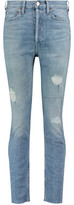 RE/DONE High-Rise Distressed Skinny Jeans