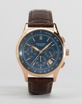 Sekonda Chronograph Leather Watch In Brown
