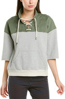 Derek Lam 10 Crosby Lace-Up Sweatshirt