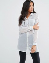 Vila Oversized Shirt With Pocket Detail