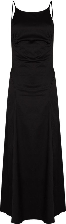 BONDI BORN Rear Tie Fastening Midi Dress