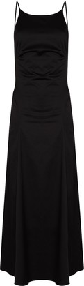 BONDI BORN Rear Tie Fastening Midi Dress