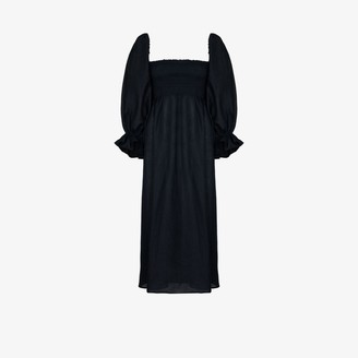 Sleeper Atlanta linen midi dress