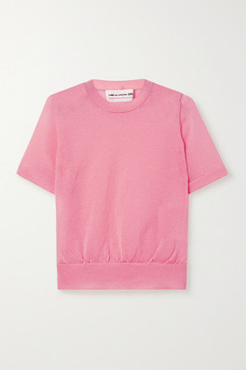 Comme des Garcons Metallic Knitted Top - Pink