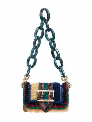 Burberry Patchwork Buckle Crossbody Bag Blue
