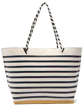 Altuzarra Espadrille Large Striped Suede Tote Bag - Womens - Navy White