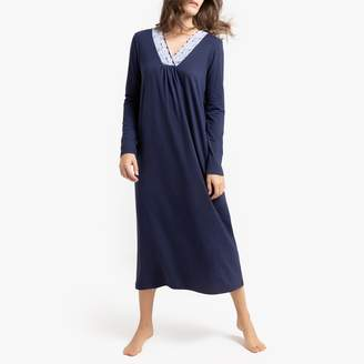 La Redoute Collections Long Lace Detail Nightdress