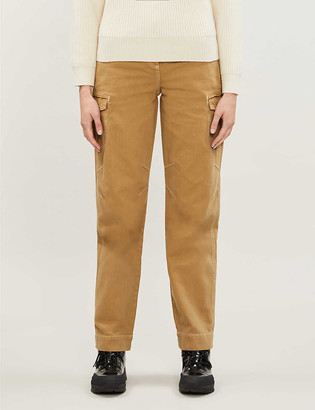 Topshop Pocket-detail high-rise cotton-twill straight-leg trousers