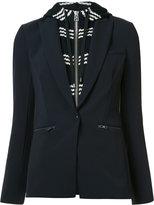Veronica Beard layered hooded blazer - women - Cotton/Polyester/Spandex/Elastane - 8