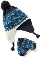 Old Navy Pom-Pom Trapper Beanie & Mitten Set for Toddler