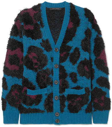 Marc Jacobs Jacquard-knit Cardigan - Blue