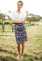 Shabby Apple Country Dame Skirt Blue