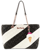 Betsey Johnson Split Decision Quilted Heart Tote